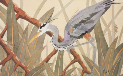 Blue-Heron-with-Three-Frogs-18x24-150-400x250